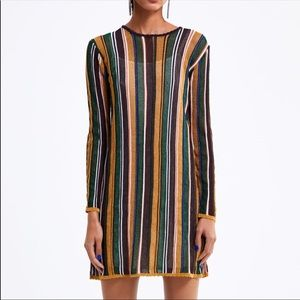 Multicolored striped knit dress. NWOT